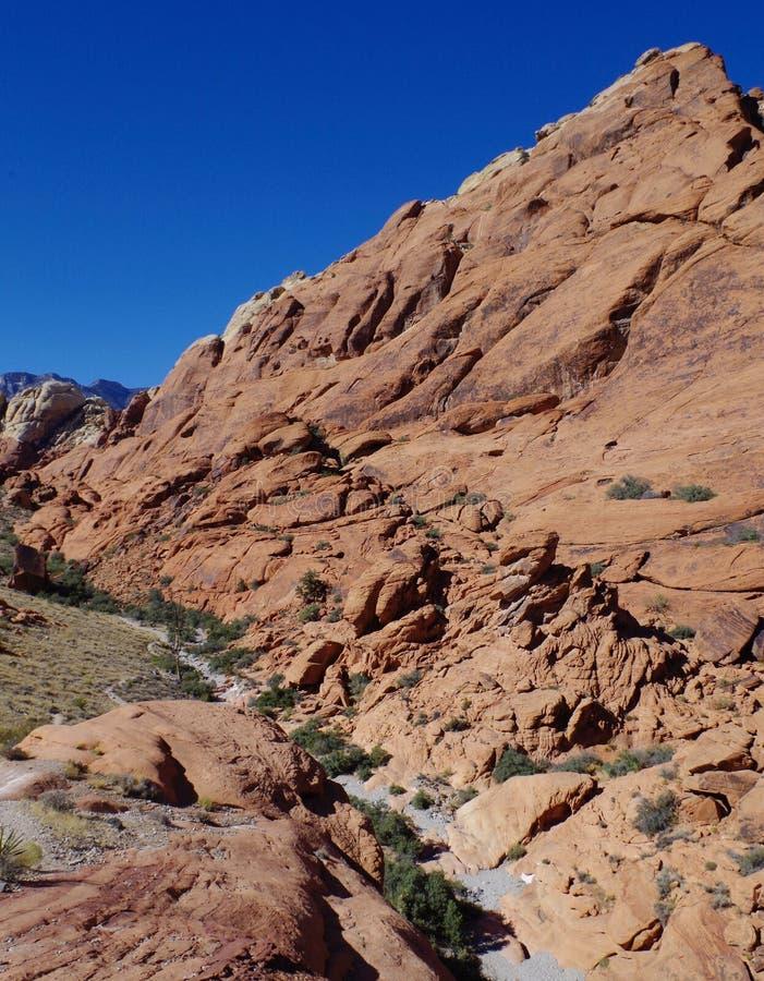 白棉布坦克,红色岩石保护地区,内华达南部,美国 免版税库存图片