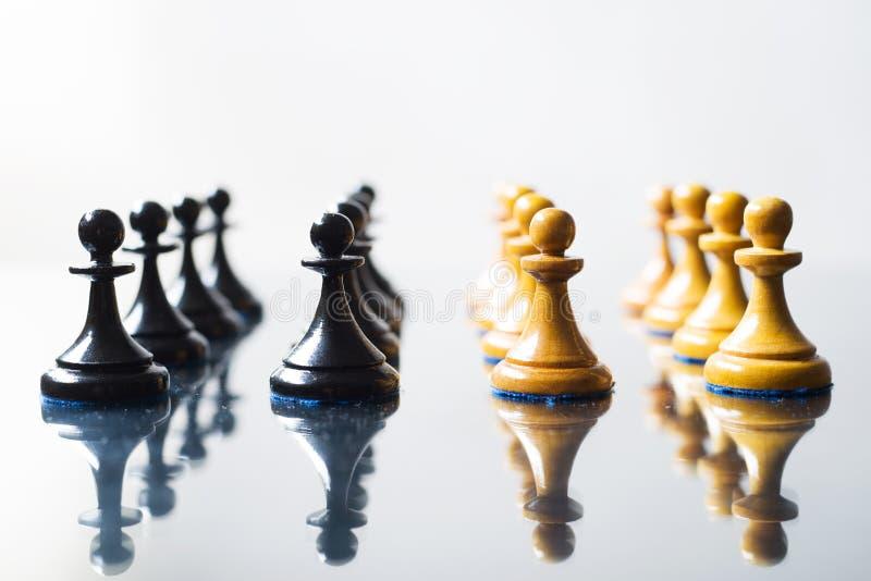 黑白棋典当 免版税库存图片