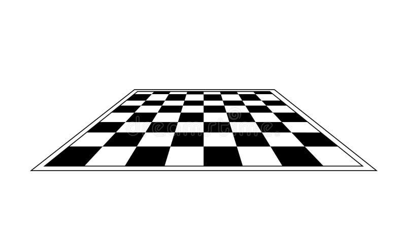 黑白棋盘 向量 向量例证