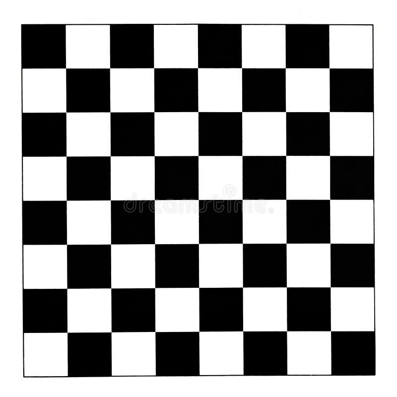 黑白棋盘 皇族释放例证