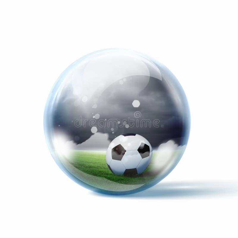 黑白足球 向量例证