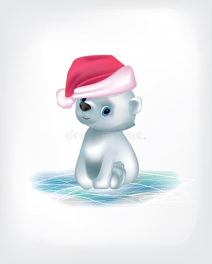 白熊传染媒介圣诞节被隔绝的冰 皇族释放例证