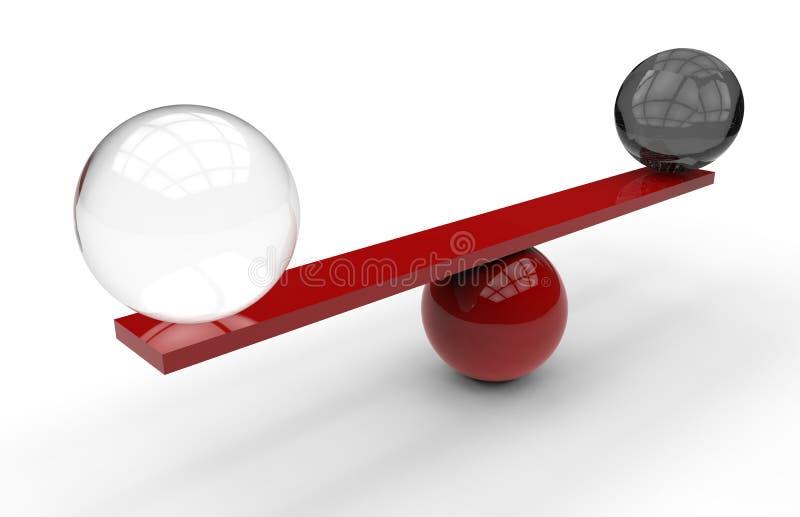 黑白球形平衡 皇族释放例证