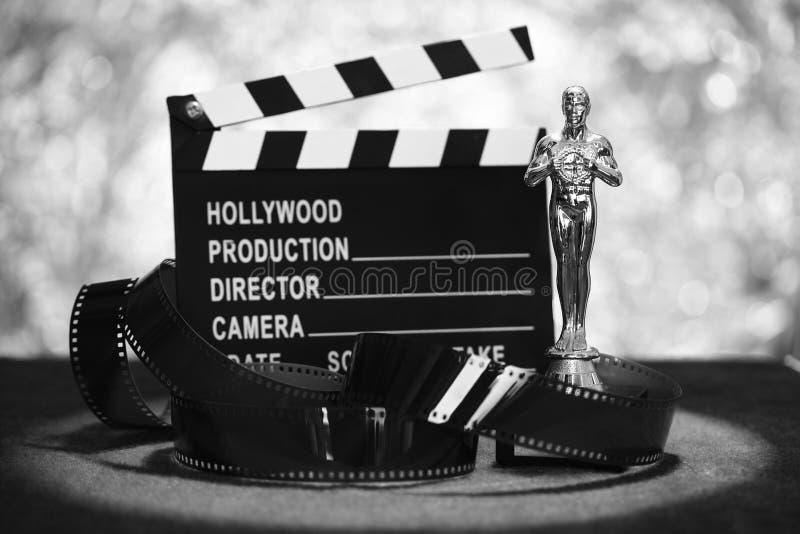 黑白电影的奖 图库摄影