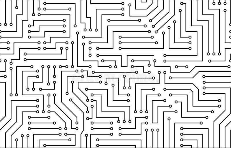 黑白电路板 向量例证