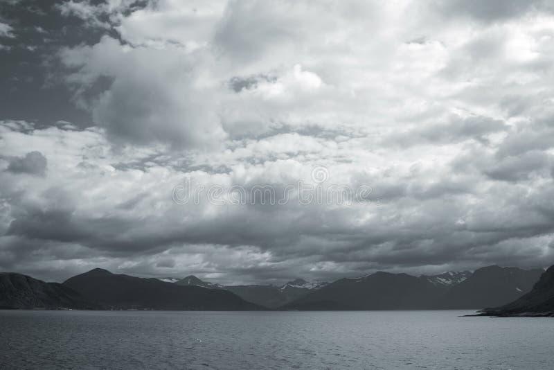 黑白的冰岛 免版税库存照片