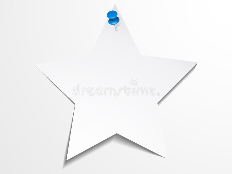白皮书星模板 库存例证