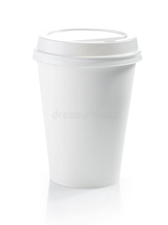 白皮书咖啡杯 免版税库存照片