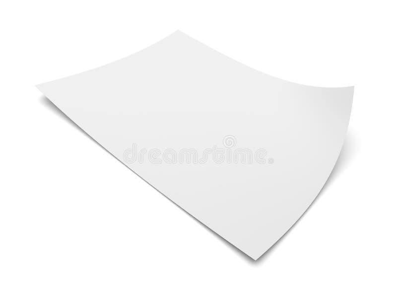 白皮书空白纸 库存例证