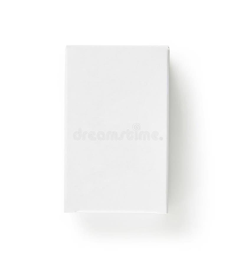 白皮书箱子 免版税库存照片