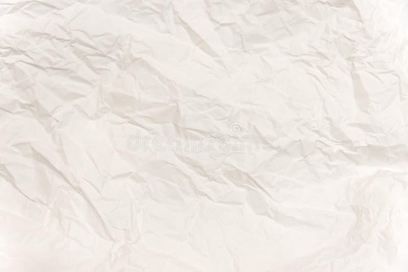 白皮书纹理背景白色压皱纸 库存照片