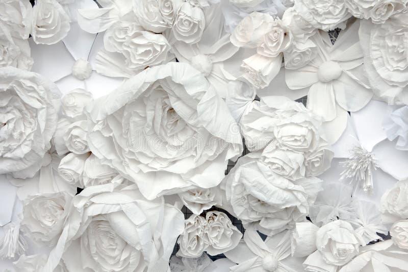从白皮书花的装饰背景 库存照片