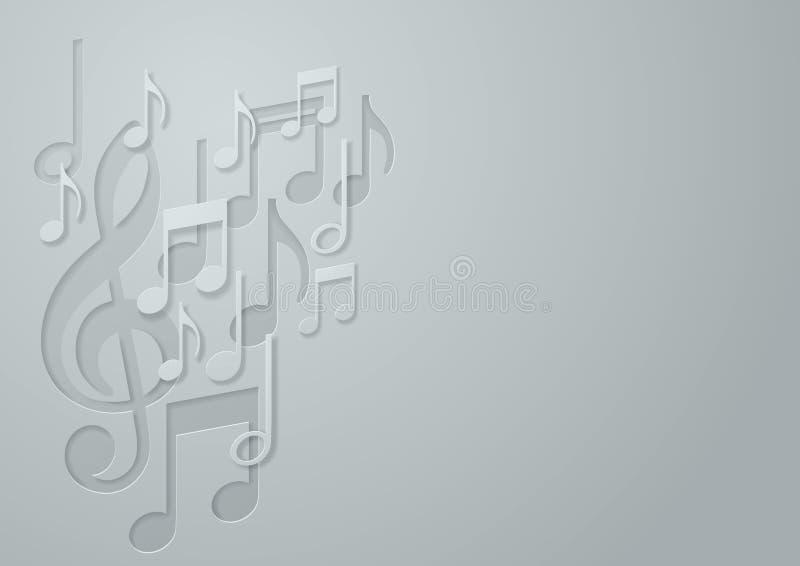 白皮书音乐笔记背景 库存例证