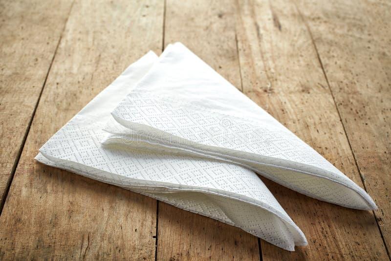 白皮书餐巾 库存照片