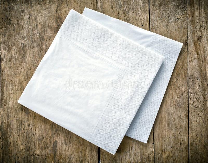 白皮书餐巾 图库摄影