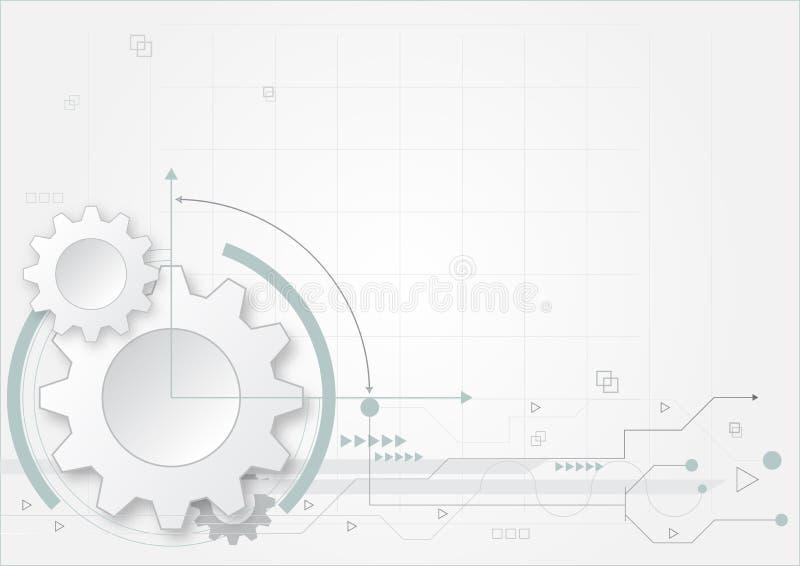 白皮书齿轮技术题材概念的摘要背景 库存例证