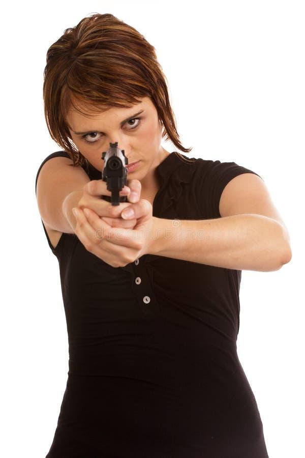 白种人女性保护的年轻人 免版税库存图片