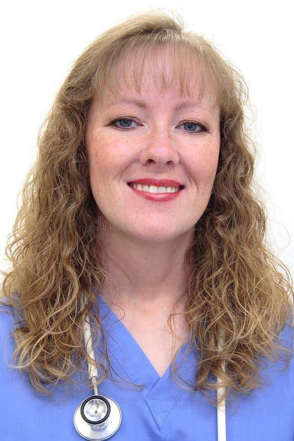 白种人护士 免版税库存照片