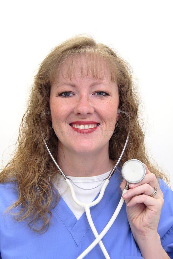 白种人护士 库存照片
