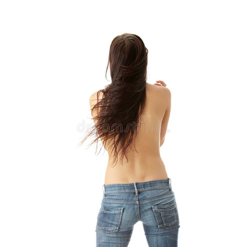 白种人纵向性感的妇女年轻人 库存图片