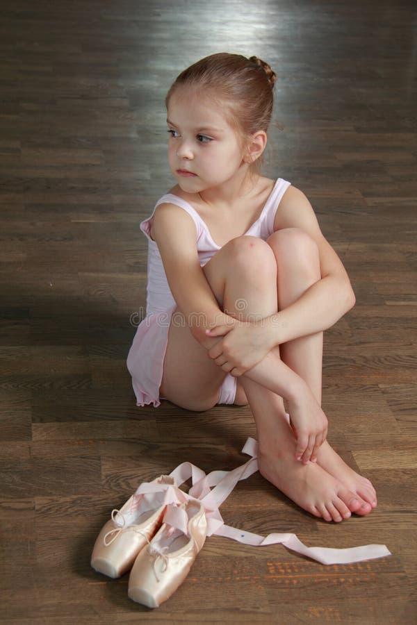 白种人芭蕾舞女演员 免版税库存照片