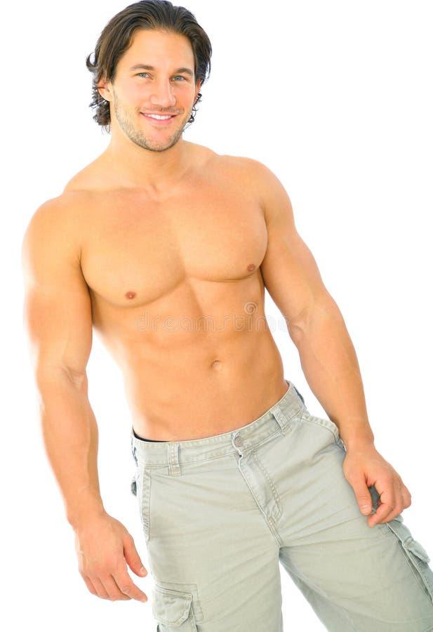 白种人英俊的查出的男性年轻人 库存图片