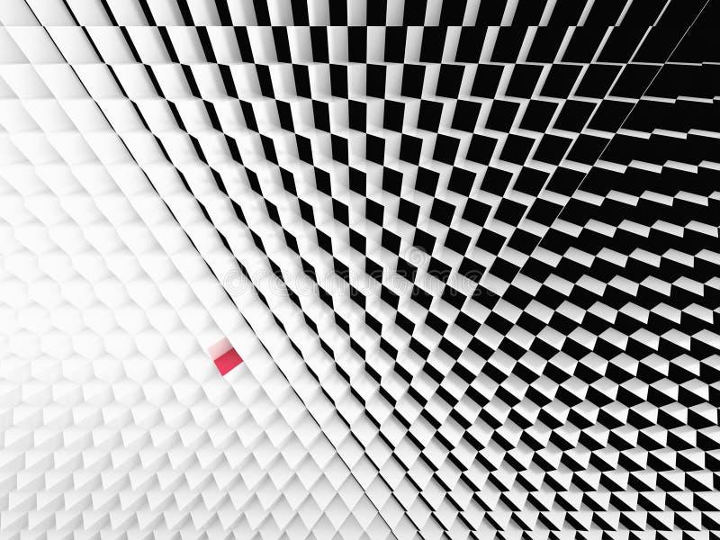 黑白立方体透视图  库存照片