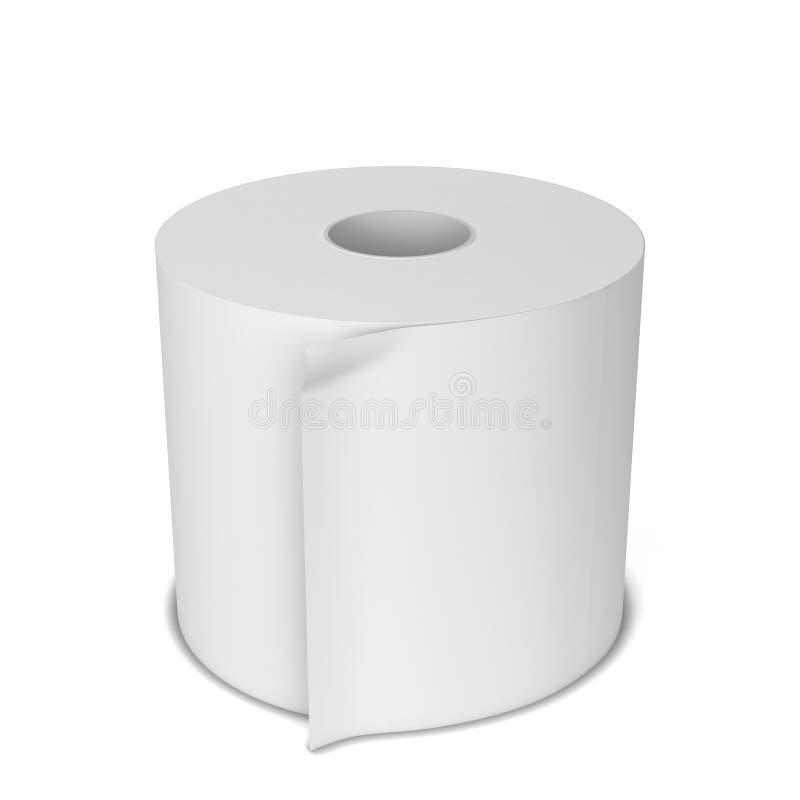 白纸卷 库存例证