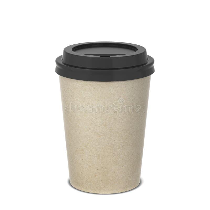 白纸咖啡杯嘲笑 库存照片
