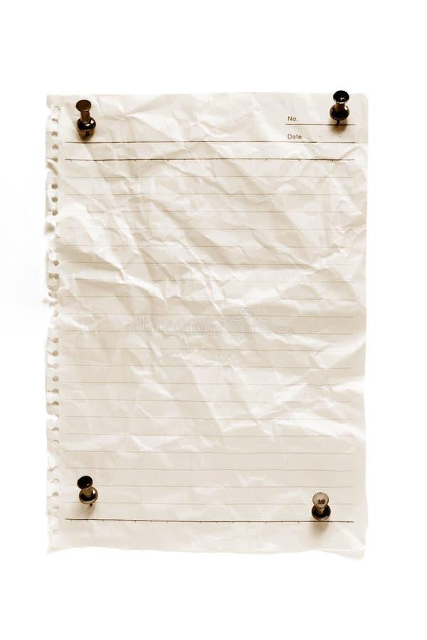 白纸图钉 免版税库存照片