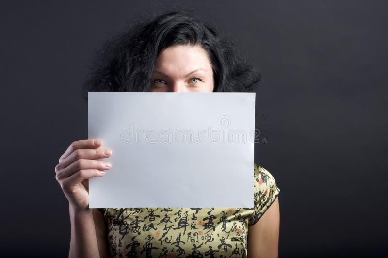 白纸妇女 库存照片