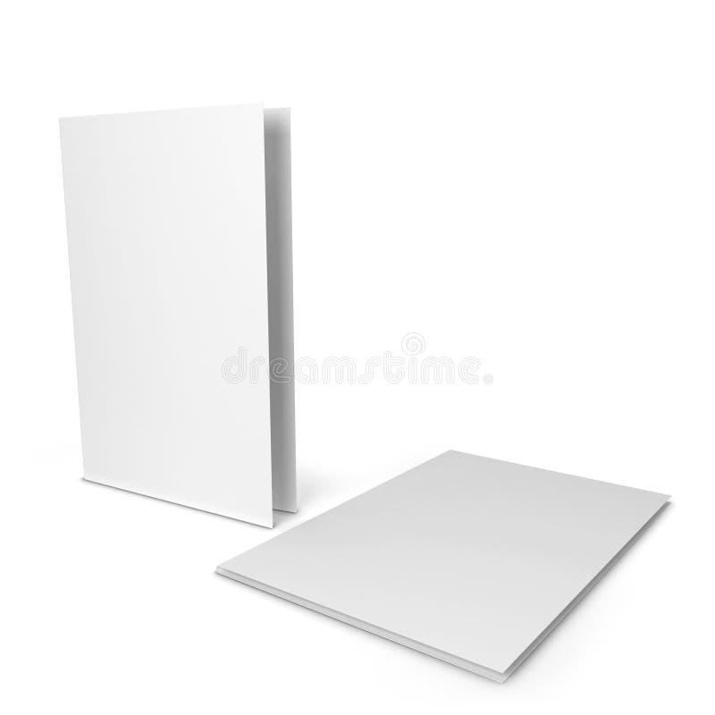 白纸文件夹 库存例证
