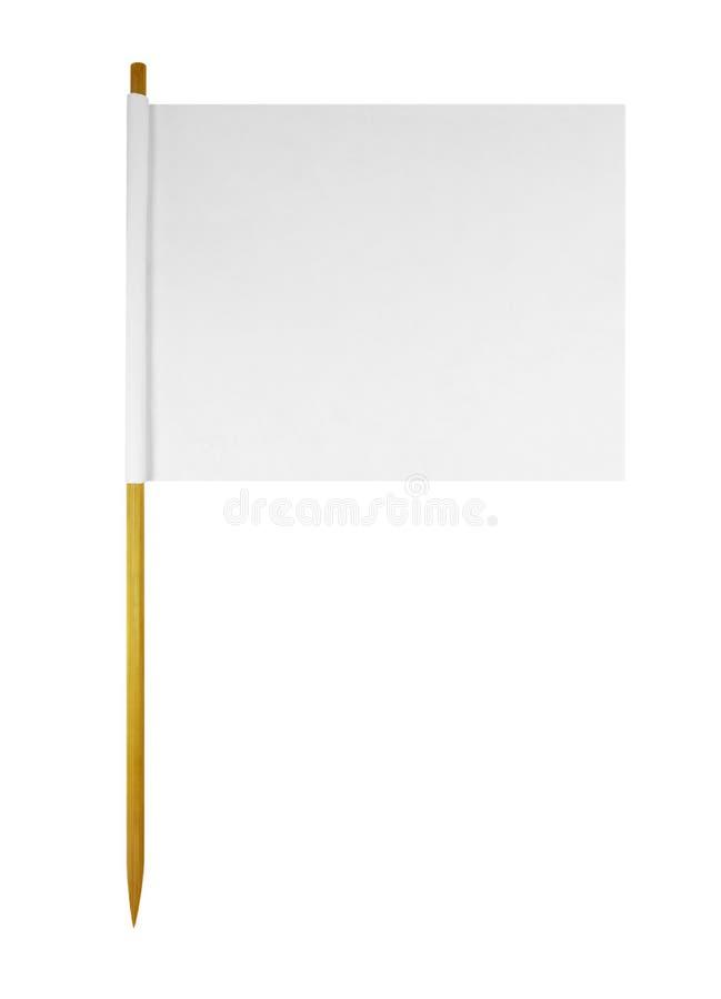 白纸旗子 库存照片