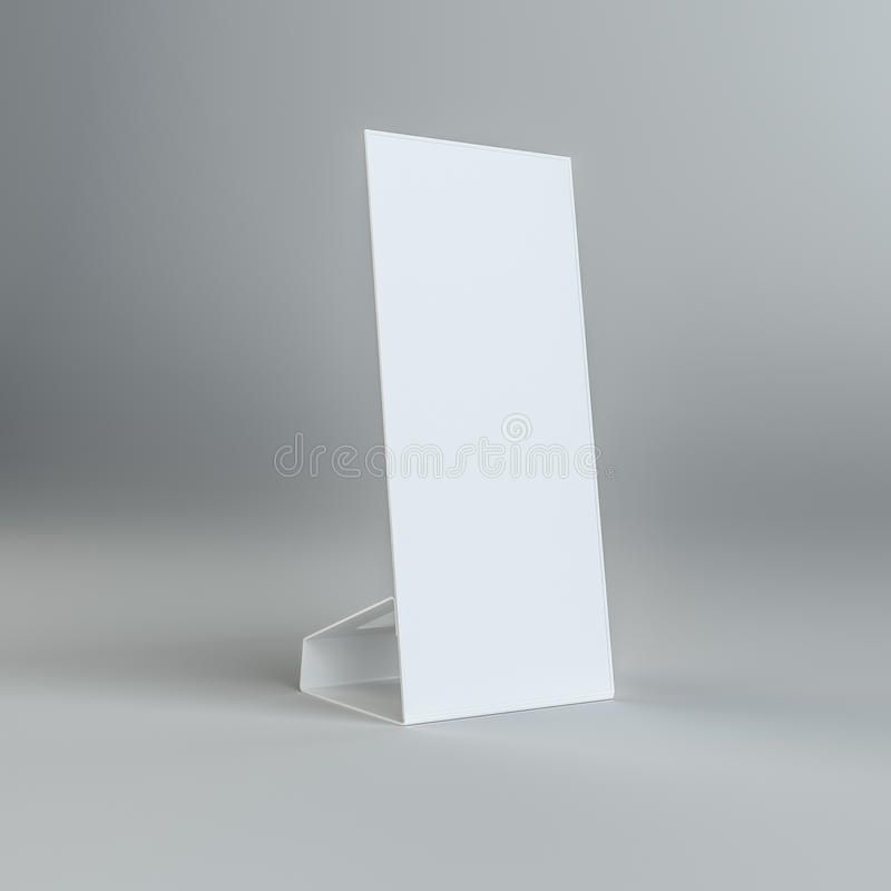 白纸桌卡片在灰色背景 皇族释放例证