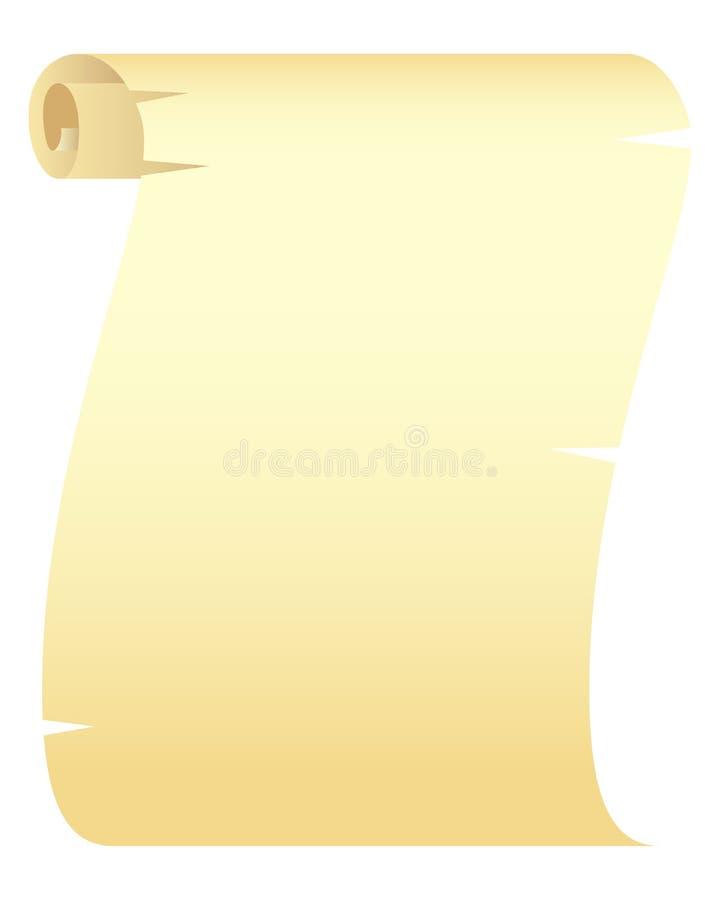 白纸滚动 库存例证