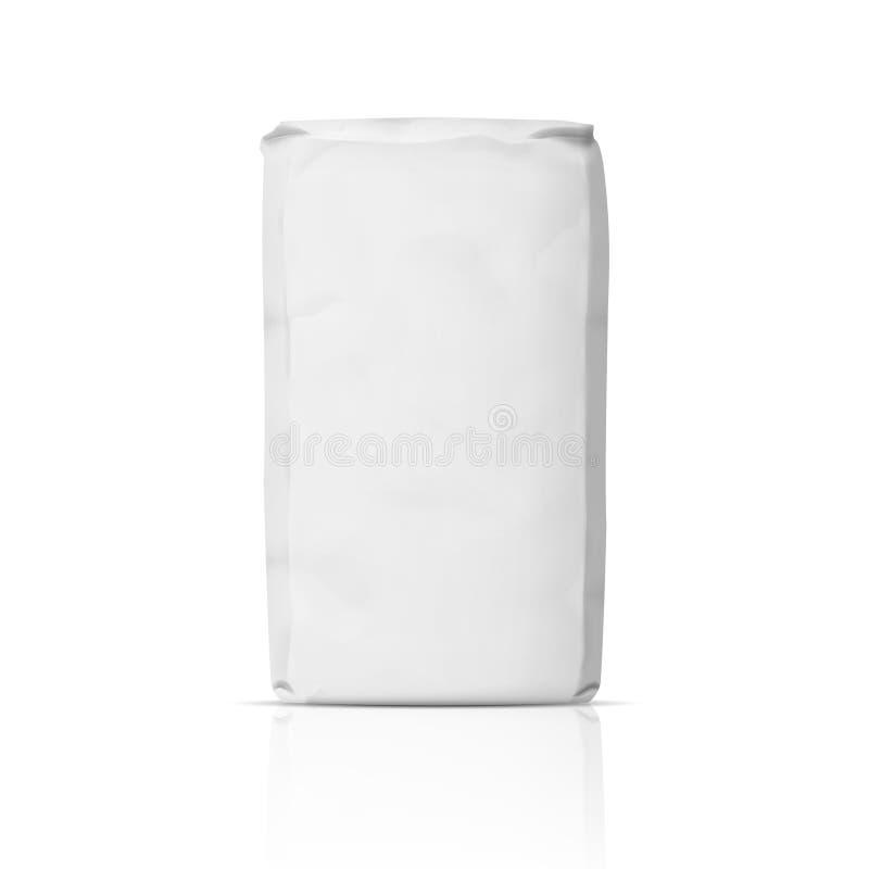 白纸面粉袋子 库存例证
