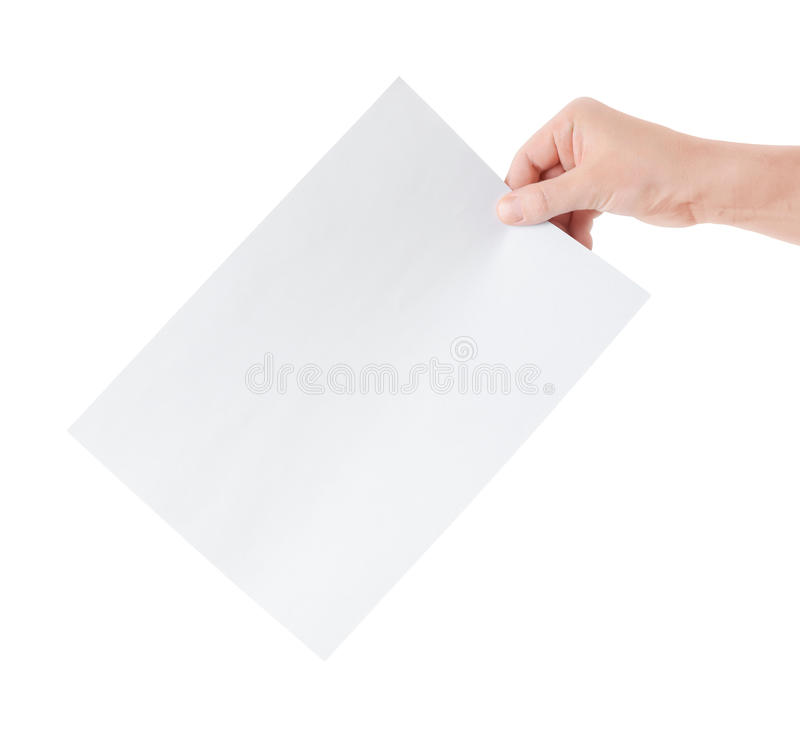 白纸页 库存照片