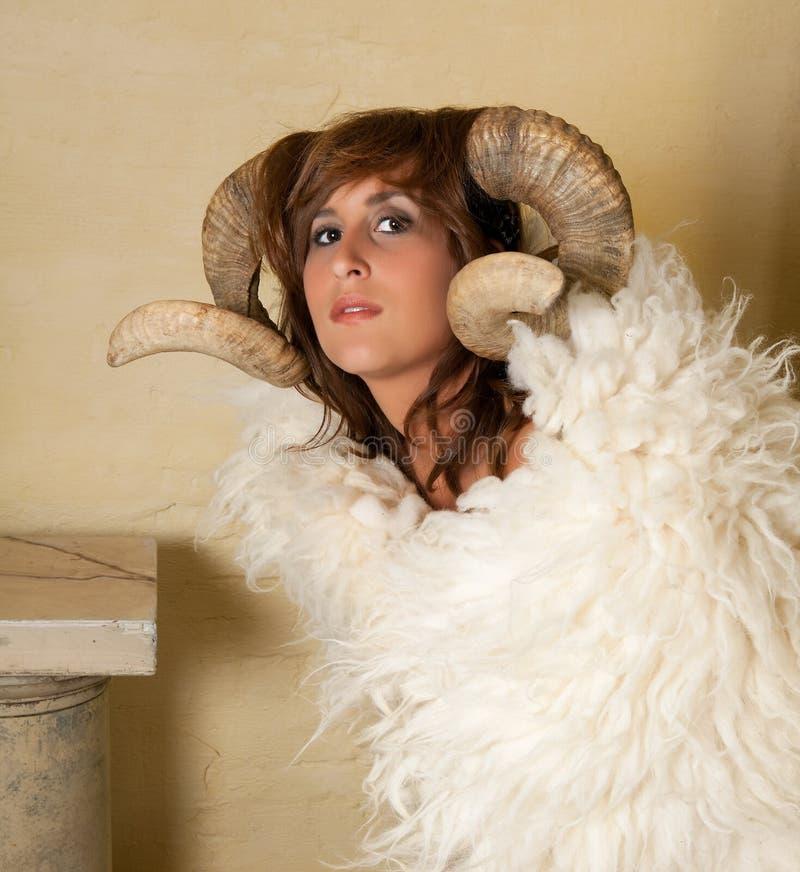 白羊星座女孩 库存图片