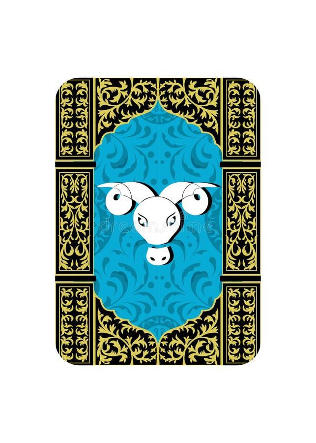 白羊星座标志 库存例证
