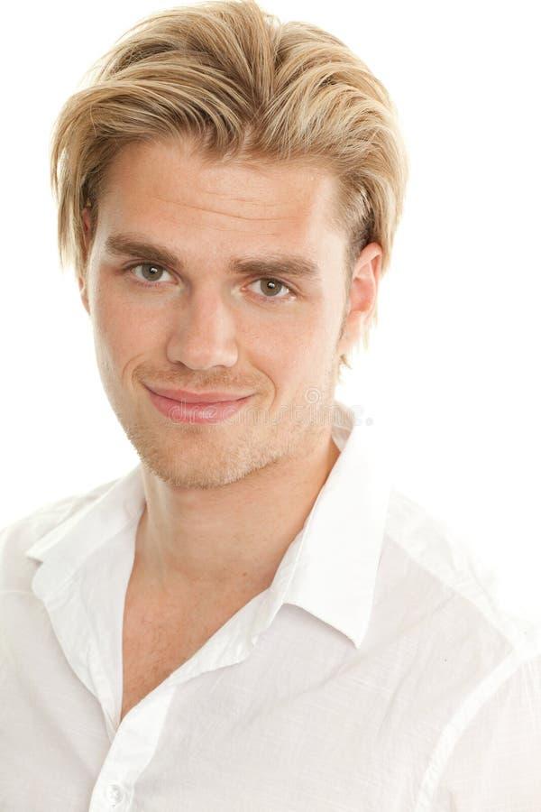 白肤金发的人纵向 免版税图库摄影