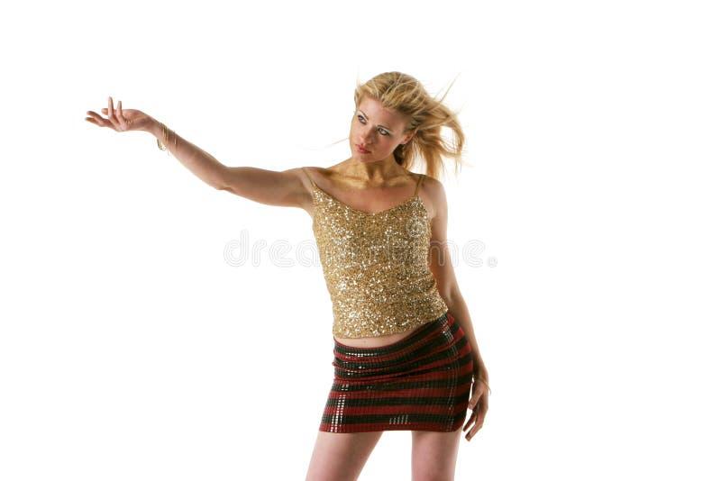 白肤金发的俏丽的妇女 免版税库存图片