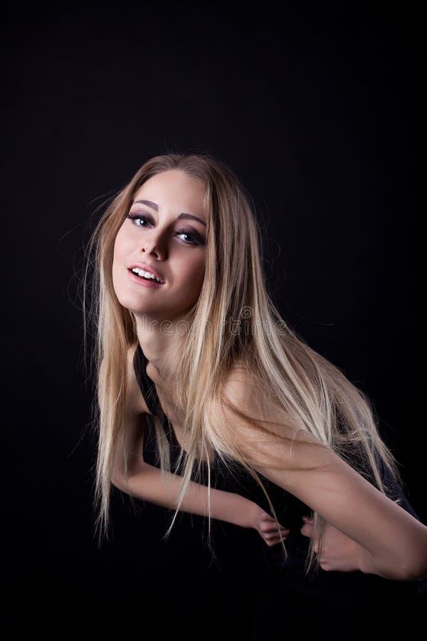 白肤金发的俏丽的妇女yong 库存照片