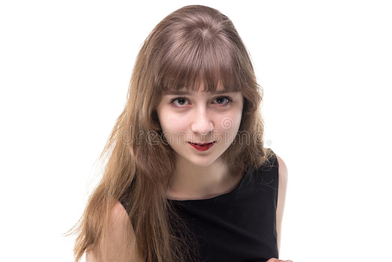 白肤金发的十几岁的女孩画象  免版税图库摄影
