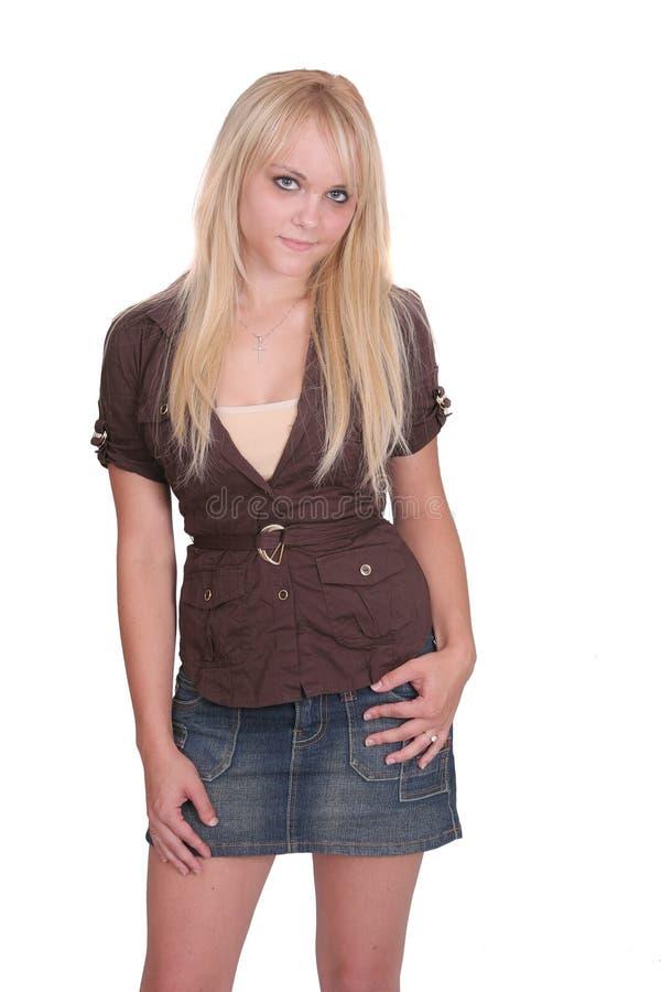 白肤金发的半身纵向 免版税库存照片