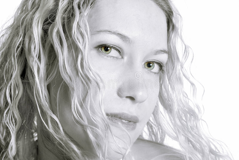 白肤金发的华美的妇女 库存图片