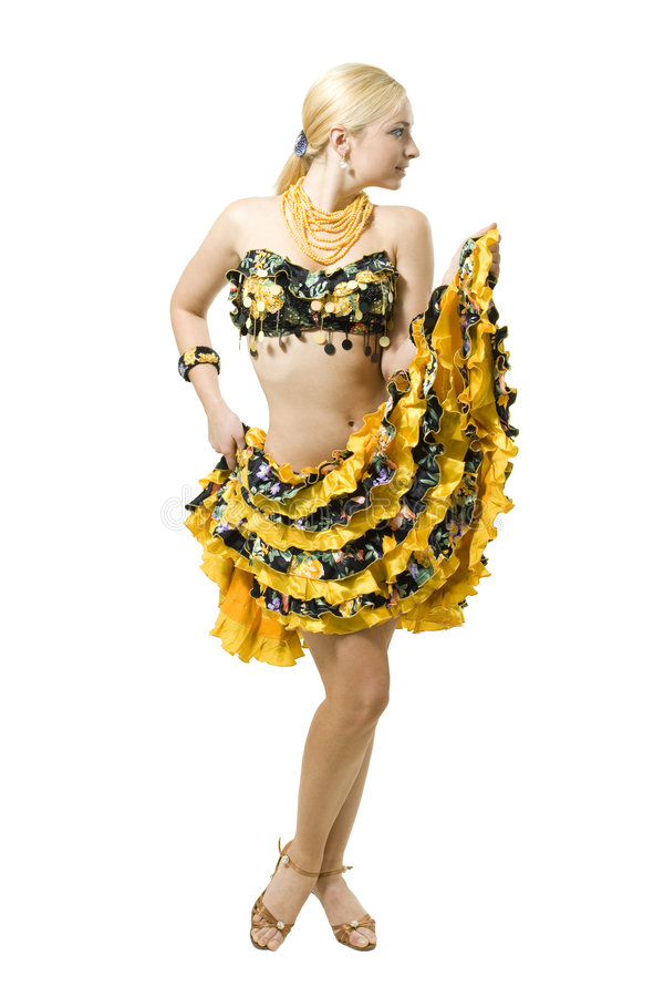 白肤金发的古典舞蹈演员 库存图片