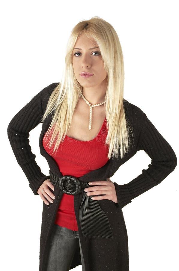 白肤金发的图女孩年轻人 图库摄影
