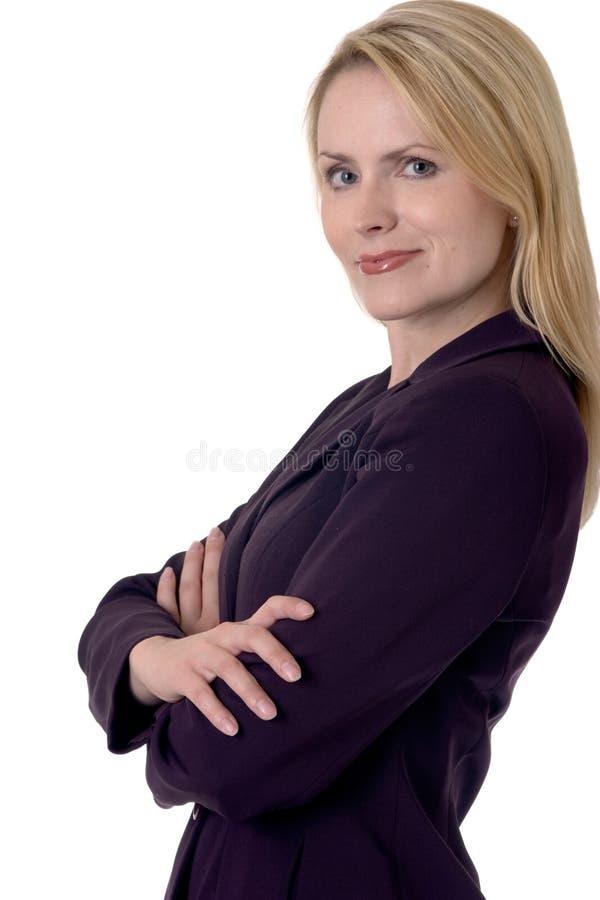 白肤金发的女商人 免版税图库摄影