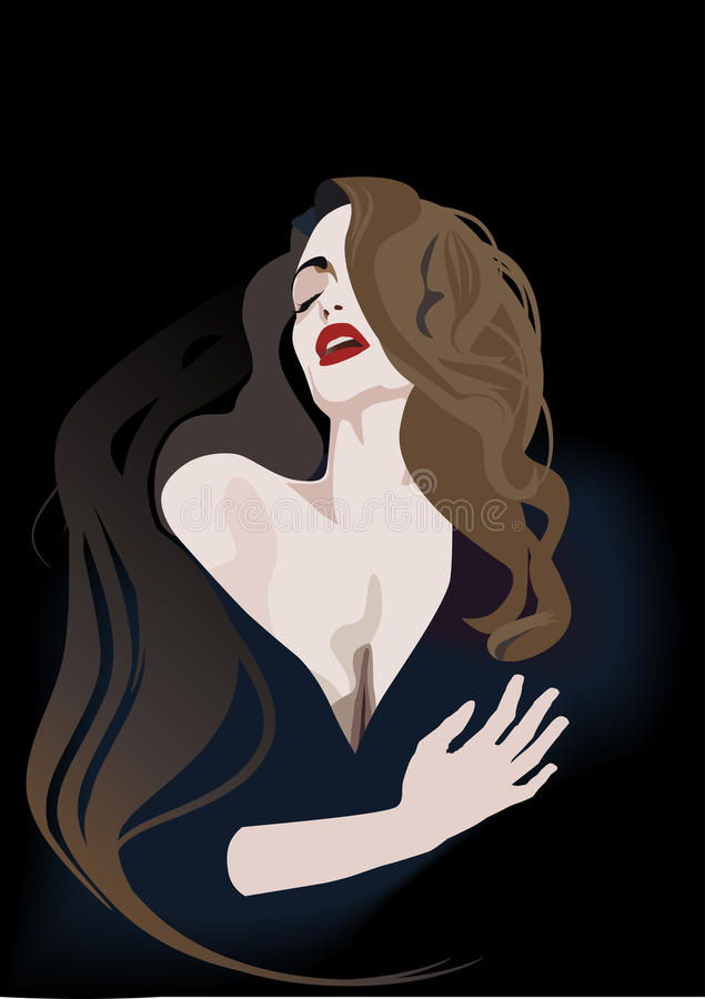 白肤金发的女孩性感的妇女 向量例证