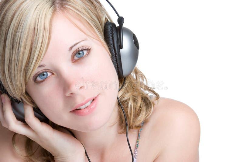 白肤金发的女孩音乐 免版税库存图片